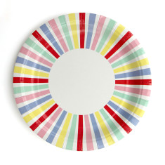 Carnival striped paper plates (pack of 2)