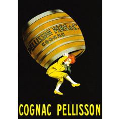 Cognac Pellisson vintage poster print by Leonetto Cappiello