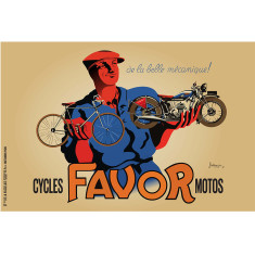 Favor De La Belle Mechanic vintage poster print by Bellenger