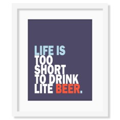 Personalised life is beer print (various colours)