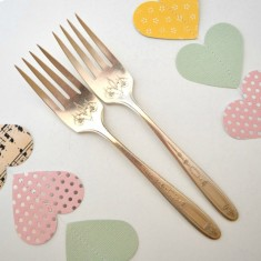Hand-stamped vintage small forks
