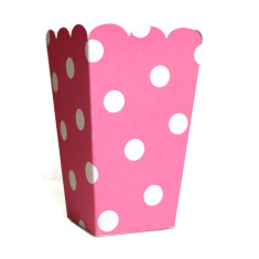 Candy pink dot treat boxes