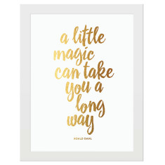 A little magic gold foil print