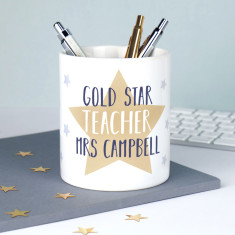 Personalised Star Teacher Pen Pot