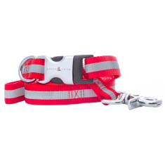 Kings Cross Reflective Nylon Collar & Lead Set - Red