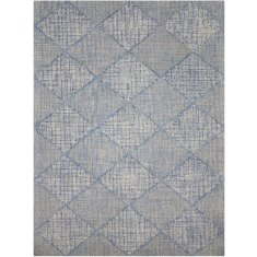 India blue hand tufted wool rug