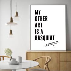 Basquiat typographic art print (various sizes)