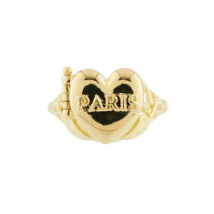 Hear locket 'From Paris with love' ring