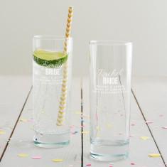 Personalised Bride Hi Ball Glass