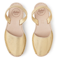 Alohas Gold Leather Sandal