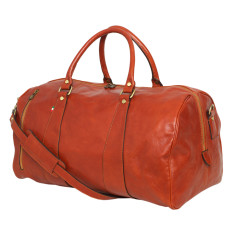 Nardi leather weekender bag in tan