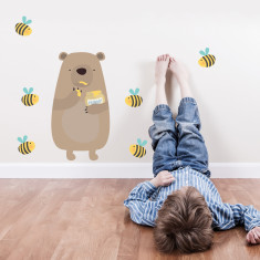 Honey thief bear fabric wall sticker