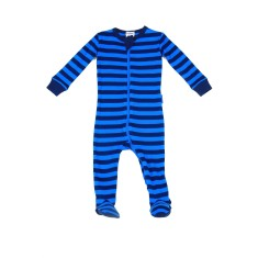 Hunter stripe footed onesie