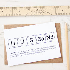 Elements of a husband card