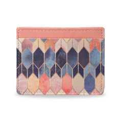 Stained Glass Vegan Leather Credit Card Holder