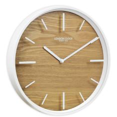 London Clock Company Skog Metal & Wood Wall Clock