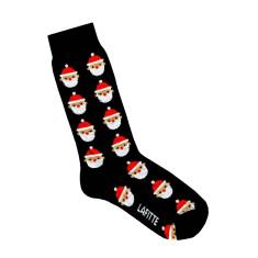 Lafitte black santa socks