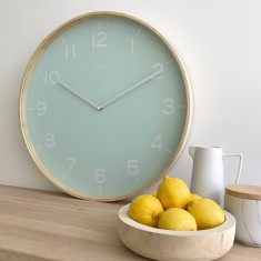 Eva Wooden SILENT SWEEP Wall Clock 51cm by Toki
