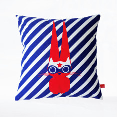Superhero rabbit little cushion cover