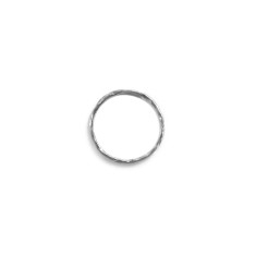Fine hammered stackable midi ring silver