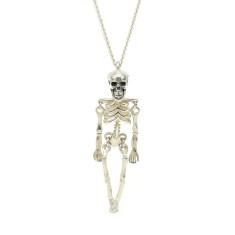 Silver Ossibus Skeleton Pendant