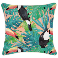 Outdoor Cushion Cover-Toucan Peach (various sizes)