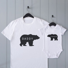 Personalised Daddy Bear T Shirt Set