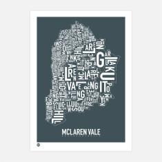 Mclaren Vale typographic print