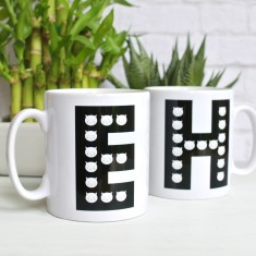 Personalised Frida Cats Initial Mug