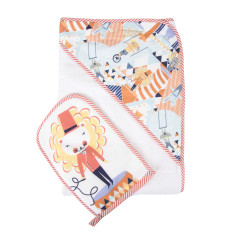 WEEGOAMIGO Mitt Washer / Hooded Towel - Crazy Circus