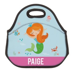 Personalised Neoprene Lunch Bag - Mermaid