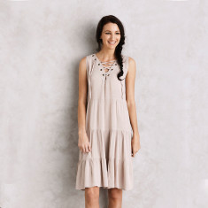 Scilla dress in almond