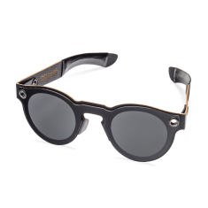 Poet Black Wooden Sunglasses