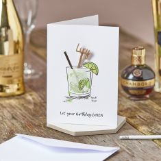 Let Your Birthday Be Gin Swizzle Stick Card