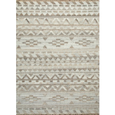 Cloud White/Ashwood handmade flat weave rug