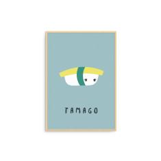 Tamago Sushi Illustration Fine Art Nursery Print