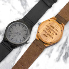 Personalised wooden men's watch