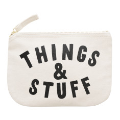 Things And Stuff Little Canvas Pouch