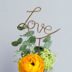 Love Wire Cake Topper