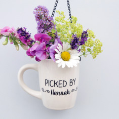 Personalised Hanging Mug Vase