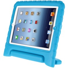 Shockproof iPad Air case with handle and free stylus in blue