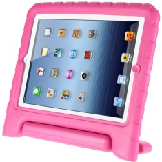Shockproof iPad Air case with handle in pink