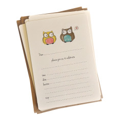 An April Idea love owls invitations (pack of 10)