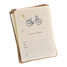 An April Idea vintage bicycle invitations (pack of 10)