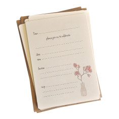 An April Idea cherry blossoms invitations (pack of 10)