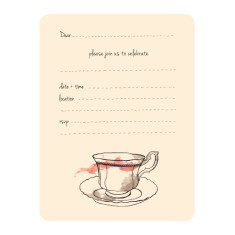 An April Idea tea and chit chat invitations (pack of 10)