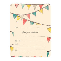 An April Idea bunting invitations
