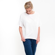 Organic Boxy Crop Tee in White