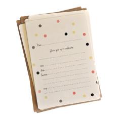 An April Idea pink confetti invitations (pack of 10)