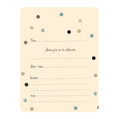 An April Idea confetti teal invitations (pack of 10)